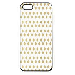 Polka Dots Gold Grey Apple Iphone 5 Seamless Case (black) by Mariart