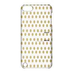 Polka Dots Gold Grey Apple Ipod Touch 5 Hardshell Case With Stand by Mariart