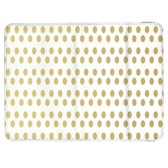 Polka Dots Gold Grey Samsung Galaxy Tab 7  P1000 Flip Case by Mariart