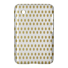 Polka Dots Gold Grey Samsung Galaxy Tab 2 (7 ) P3100 Hardshell Case  by Mariart