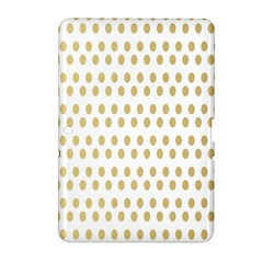 Polka Dots Gold Grey Samsung Galaxy Tab 2 (10 1 ) P5100 Hardshell Case  by Mariart
