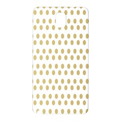 Polka Dots Gold Grey Samsung Galaxy Note 3 N9005 Hardshell Back Case by Mariart