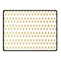 Polka Dots Gold Grey Double Sided Fleece Blanket (small)  by Mariart