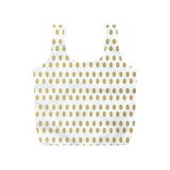 Polka Dots Gold Grey Full Print Recycle Bags (s)  by Mariart