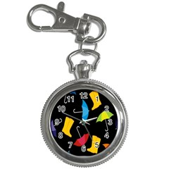 Rain Shoe Boots Blue Yellow Pink Orange Black Umbrella Key Chain Watches by Mariart