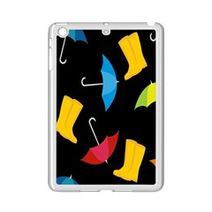 Rain Shoe Boots Blue Yellow Pink Orange Black Umbrella Ipad Mini 2 Enamel Coated Cases by Mariart