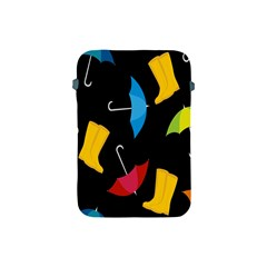 Rain Shoe Boots Blue Yellow Pink Orange Black Umbrella Apple Ipad Mini Protective Soft Cases by Mariart