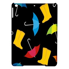 Rain Shoe Boots Blue Yellow Pink Orange Black Umbrella Ipad Air Hardshell Cases by Mariart
