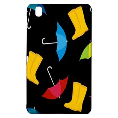 Rain Shoe Boots Blue Yellow Pink Orange Black Umbrella Samsung Galaxy Tab Pro 8 4 Hardshell Case by Mariart