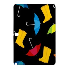 Rain Shoe Boots Blue Yellow Pink Orange Black Umbrella Samsung Galaxy Tab Pro 12 2 Hardshell Case by Mariart
