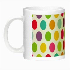Polka Dot Yellow Green Blue Pink Purple Red Rainbow Color Night Luminous Mugs by Mariart