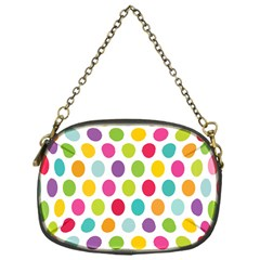 Polka Dot Yellow Green Blue Pink Purple Red Rainbow Color Chain Purses (one Side)  by Mariart