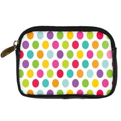 Polka Dot Yellow Green Blue Pink Purple Red Rainbow Color Digital Camera Cases by Mariart