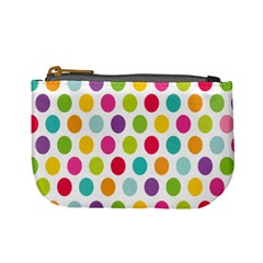 Polka Dot Yellow Green Blue Pink Purple Red Rainbow Color Mini Coin Purses by Mariart