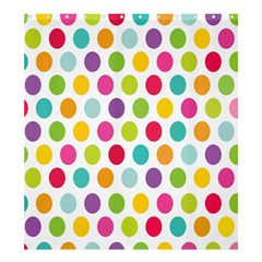Polka Dot Yellow Green Blue Pink Purple Red Rainbow Color Shower Curtain 66  X 72  (large)  by Mariart