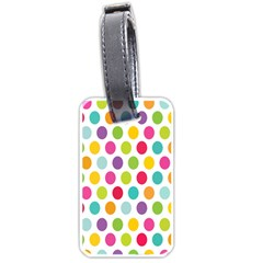 Polka Dot Yellow Green Blue Pink Purple Red Rainbow Color Luggage Tags (one Side)  by Mariart