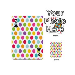 Polka Dot Yellow Green Blue Pink Purple Red Rainbow Color Playing Cards 54 (mini)  by Mariart