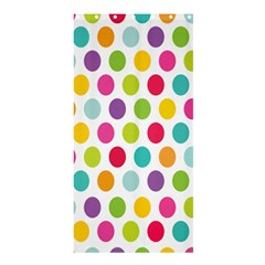 Polka Dot Yellow Green Blue Pink Purple Red Rainbow Color Shower Curtain 36  X 72  (stall)  by Mariart