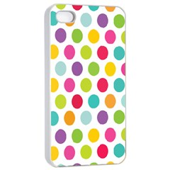 Polka Dot Yellow Green Blue Pink Purple Red Rainbow Color Apple Iphone 4/4s Seamless Case (white) by Mariart