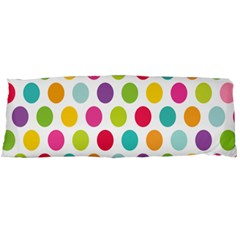 Polka Dot Yellow Green Blue Pink Purple Red Rainbow Color Body Pillow Case Dakimakura (two Sides) by Mariart