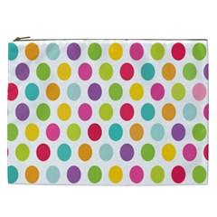 Polka Dot Yellow Green Blue Pink Purple Red Rainbow Color Cosmetic Bag (xxl)  by Mariart