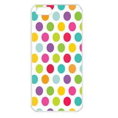 Polka Dot Yellow Green Blue Pink Purple Red Rainbow Color Apple Iphone 5 Seamless Case (white) by Mariart