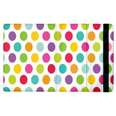 Polka Dot Yellow Green Blue Pink Purple Red Rainbow Color Apple Ipad 2 Flip Case by Mariart