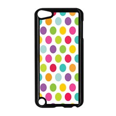 Polka Dot Yellow Green Blue Pink Purple Red Rainbow Color Apple Ipod Touch 5 Case (black) by Mariart