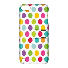 Polka Dot Yellow Green Blue Pink Purple Red Rainbow Color Apple Ipod Touch 5 Hardshell Case With Stand by Mariart
