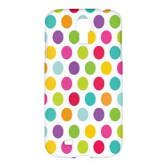 Polka Dot Yellow Green Blue Pink Purple Red Rainbow Color Samsung Galaxy S4 I9500/i9505 Hardshell Case