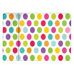 Polka Dot Yellow Green Blue Pink Purple Red Rainbow Color Samsung Galaxy Tab 10 1  P7500 Flip Case