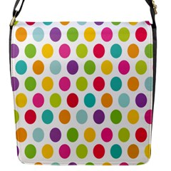 Polka Dot Yellow Green Blue Pink Purple Red Rainbow Color Flap Messenger Bag (s) by Mariart
