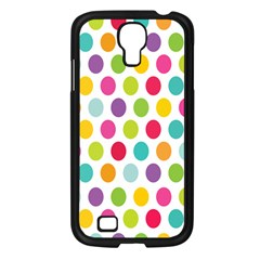 Polka Dot Yellow Green Blue Pink Purple Red Rainbow Color Samsung Galaxy S4 I9500/ I9505 Case (black)