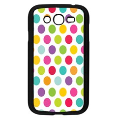 Polka Dot Yellow Green Blue Pink Purple Red Rainbow Color Samsung Galaxy Grand Duos I9082 Case (black)