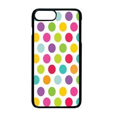 Polka Dot Yellow Green Blue Pink Purple Red Rainbow Color Apple Iphone 7 Plus Seamless Case (black)
