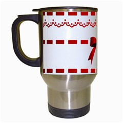 Ribbon Red Line Travel Mugs (white) by Mariart