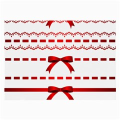 Ribbon Red Line Large Glasses Cloth by Mariart