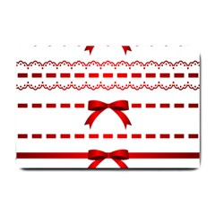 Ribbon Red Line Small Doormat