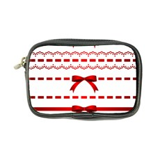 Ribbon Red Line Coin Purse by Mariart