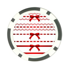 Ribbon Red Line Poker Chip Card Guard (10 Pack) by Mariart