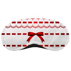 Ribbon Red Line Sleeping Masks by Mariart