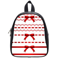 Ribbon Red Line School Bags (small)  by Mariart
