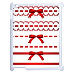 Ribbon Red Line Apple Ipad 2 Case (white) by Mariart
