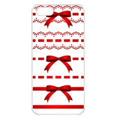 Ribbon Red Line Apple Iphone 5 Seamless Case (white) by Mariart