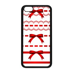 Ribbon Red Line Apple Iphone 5c Seamless Case (black) by Mariart