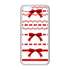 Ribbon Red Line Apple Iphone 5c Seamless Case (white) by Mariart