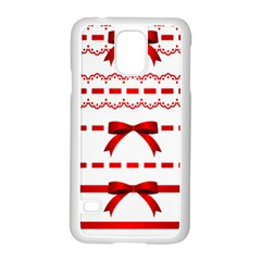 Ribbon Red Line Samsung Galaxy S5 Case (white) by Mariart