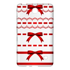 Ribbon Red Line Samsung Galaxy Tab 4 (7 ) Hardshell Case  by Mariart