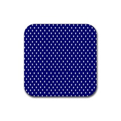 Rainbow Polka Dot Borders Colorful Resolution Wallpaper Blue Star Rubber Square Coaster (4 Pack)  by Mariart
