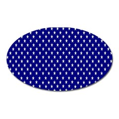 Rainbow Polka Dot Borders Colorful Resolution Wallpaper Blue Star Oval Magnet by Mariart